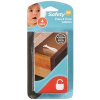 Safety 1St 48446 Press 'n Pivot Cabinet and Drawer Latch