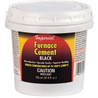 FURNACE CEMENT BLACK, 8OZ