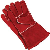 GLOVES FIREPLACE COWHIDE LTHR