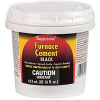 FURNACE CEMENT BLACK, 16OZ