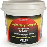 REFRACTORY CEMENT BUFF, 128OZ
