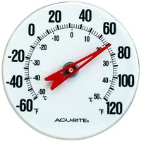 AcuRite 00346CASB Weather Resistant Analog Thermometer