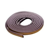Rubber Weatherstripping, 17' Brown