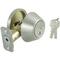 DEADBOLT SINGLE CYL SS KA3 BOX