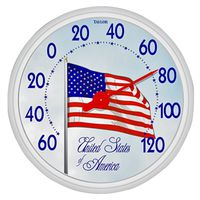 Taylor 6729 Weather Resistant Shatterproof Dial Thermometer