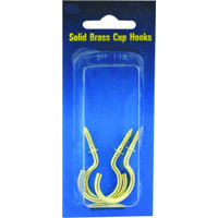 Solid Brass Cup Hook, 7/8""