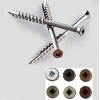 Stainless Steel Trim Screw, 96 Pk 2 1/4""