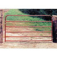 BEHLEN 20GA 6 RAIL UTILITY GATE 10X50 RED