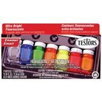 FLUORESCENT ENAMEL PAINT SET