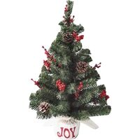 BURLAP TREE 24IN RED BERRIES JOY
