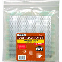 "Drywall Patch, 6"" x 6"" 3 Pk"