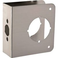 "Door Reinforcer, 4"" x 4 1/2"" Brushed Nickel"