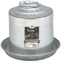 LITTLE GIANT 9832 GALVANIZED DOUBLE WALL POULTRY FOUNT 2 GALLON