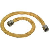 "Gas Appliance Connector Supply Line, 3/8"" x 46"""