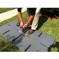 24X24X3 LIGHTWEIGHT PLASTC EQUIPMENT PAD