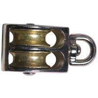 Swivel  Double Pulley, 3/4