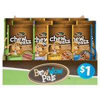 CHEW EATZ DOG SNACK NAT ASST