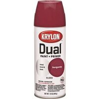 Krylon Dual Spray Paint, 12 oz Burgundy Gloss