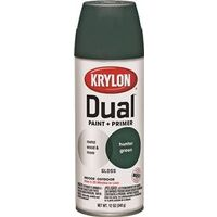 Krylon Dual Spray Paint, 12 oz Hunter Green Gloss