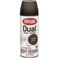 Krylon Dual Spray Paint, 12 oz Leather Brwon Gloss