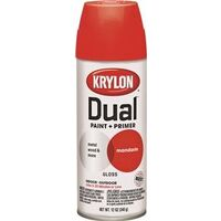 Krylon Dual Spray Paint, 12 oz Mandarin Gloss