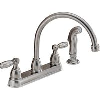 KITCHEN FAUCET 2-H SPRY ARC SS