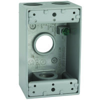 Weather Proof Single Gang Electrical Box, Gray