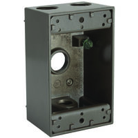 "Rectangular Outlet Box, 4 1/2"" Bronze"