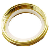 "Nut & Washer, 1 1/2"" x 1 1/2"" Brass"