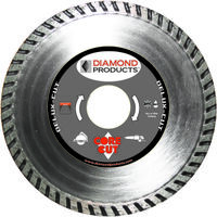 Deluxe Cut Turbo Diamond Saw Blade, 6""