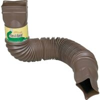 Flex-A-Spout Downspout Extension, Brown