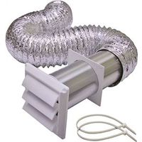 Lambro 1359W Louvered Dryer Vent Kit