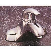 "Single Handle Bathroom Faucet with Pop Up, 4"" Chrome"