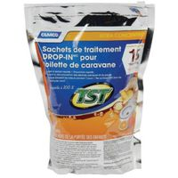 Tst Drop-Ins 41189 Ultra Concentrated RV Toilet Tank Treatment, 15 Count Bag, Orange, Granular
