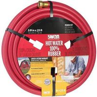 HOSE HOT WATER RUBBER 5/8X25FT
