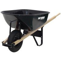 True Temper Steel Wheelbarrow, 6 Cu Ft