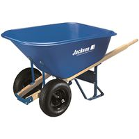 WHEELBARROW DUAL WHEEL 10CU