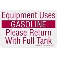 Equipment Uses Gasoline Decal