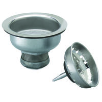 Sink Basket Strainer Assembly with Locking Shell, Stainless Steel