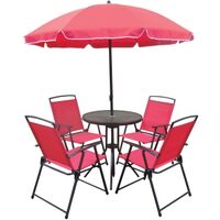Folding Dining Set, 6PC, Hilton