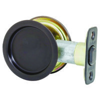 Round Pock Door Pull, Oil Rubbed Bronze
