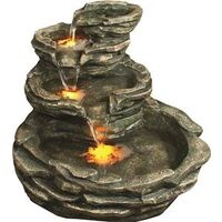 FIELDSTONE FOUNTAIN WITH LIGHT