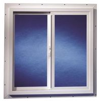 Duo-Corp 3020TMUT Double Slider Utility Window, 3 X 2 ft, Solid Vinyl