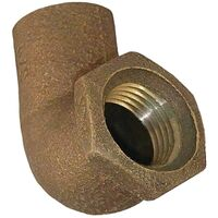 C707-3 3/4 x 3/4 90 Degree Cast Copper Female Elbow, Low Lead