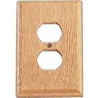 Duplex Outlet Plate Light Oak