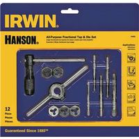 Hanson 24605 Fractional/Machine Screw Tap and Hex Die Set