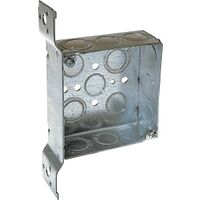 "4"" Square Bracket Box 1 1/2 Deep"