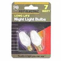 Feit Electric BP7C7/W/CS Dimmable Low Wattage Incandescent Lamp, 7 W, 120 V, C7, 3000 hr - Case of 12