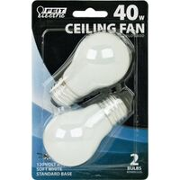 White Ceiling Fan Bulb, 40 Watt A15