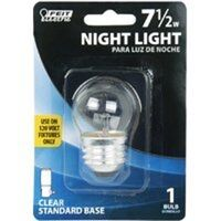 Night Light Bulb Clear, 7.5 Watt